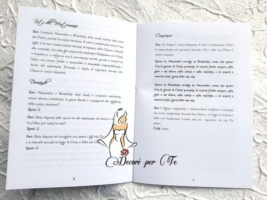 Libretto Messa Matrimonio Country Chic : Libretti messa country chic decori per te